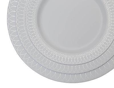 2 of 5 Premium Reflective Plastic Wedding Plates - Bulk Pack - Ovals Design -Free Ship  sc 1 st  PicClick & PREMIUM REFLECTIVE PLASTIC Wedding Plates - Bulk Pack - Ovals Design ...