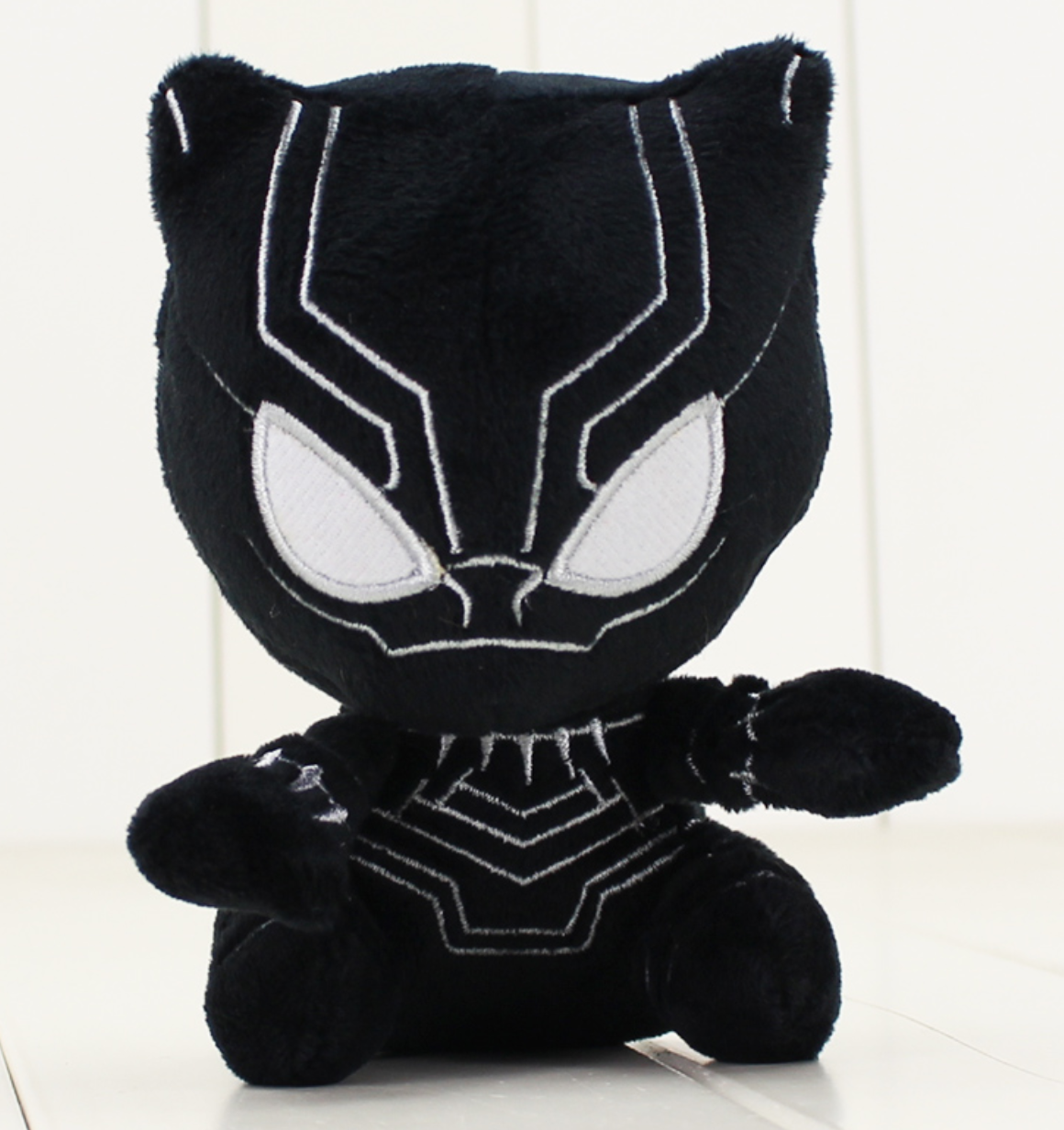 Black Panther Action Figure Plush Doll Stuffed Teddy Puppets Gift Superhero