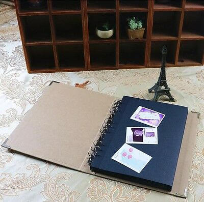 REFILL PAGES ONLY FOR 9-ring binder Burlap Hessian DIY Scrapbook Sketchbook Book
