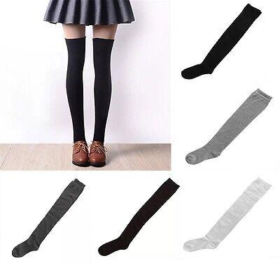 Ladies Over The Knee Cotton Socks Sizes Adult 4-7 UK Girls  Long School Socks 2