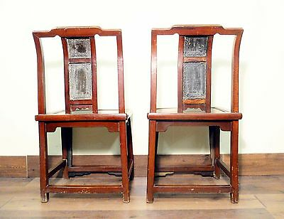 Antique Chinese Ming Chairs (5435) (Pair), Zelkova Wood, Circa 1800-1949 12