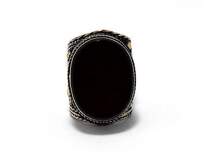 Black Onyx Stone Ring Turkmen Tribal Kuchi Afghan Jewelry Ethnic Gypsy Boho Ring 5