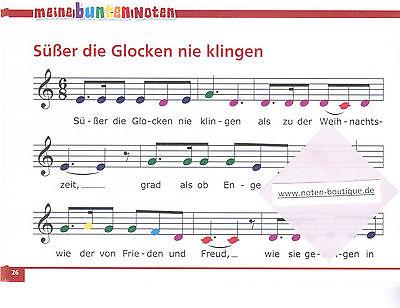 Keyboard Weihnachtslieder Anfänger.Melodica Keyboard Noten Meine Bunten Noten Weihnachtslieder Leicht Farben
