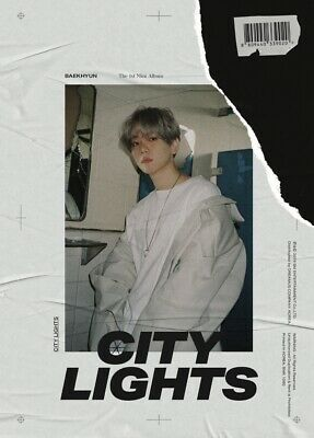 EXO BAEKHYUN CITY LIGHTS 1st Mini Album CD+POSTER+PBook+Lyric+Card+F.Poster+GIFT 2