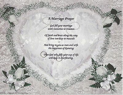2 Of 7 Wedding Marriage Blessing Poem Personalize Name Prayer
