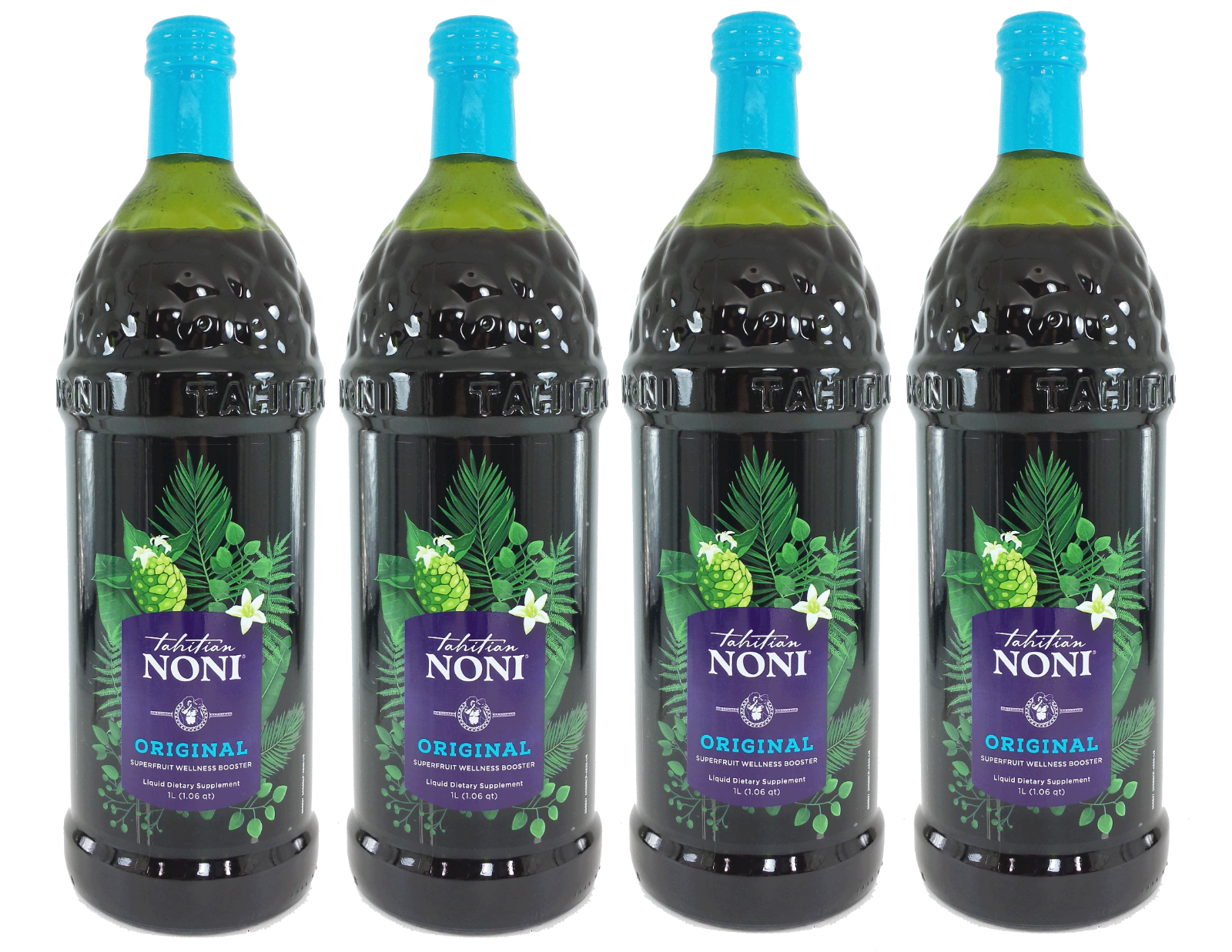 Tahitian Noni Juice by Morinda Inc. (4 bottle case) *NEW LOOK!* 4