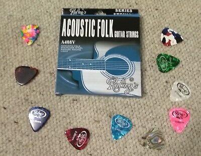 Muta corde chitarra Acustica + 10 Plettri (spedizione rapida da ITALIA posta1) 2