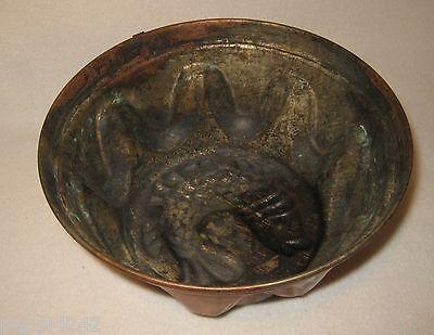++  alte Kupfer Backform - Kupfermodel / Kuchenform Fisch Motiv Ø 18,5 cm ++Hhj 3