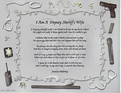 POLICE OFFICER WIFE Poem Personalized Print Prayer 2