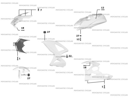 Black Fairing Bolt Kit body screws fasteners for Honda CBR 900 RR 2000 - 2001