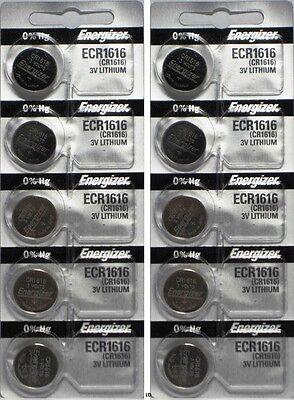 Energizer ECR1616 CR 1616 (2 piece) Lithium 3V Battery New Authorized Seller