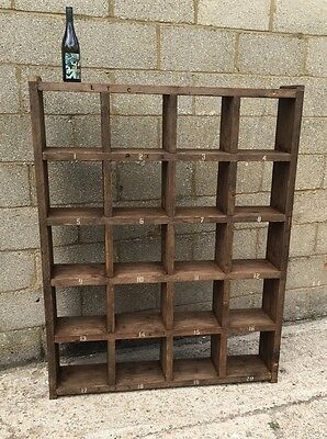 Industrial Up-Cycled Pigeon Hole Shelving Unit 2