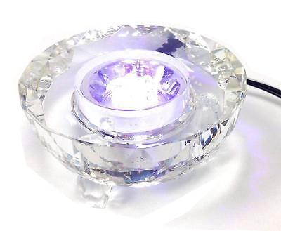 Colored 7LED lights Crystal Stand Base NEW With Charger Illuminated Display 2