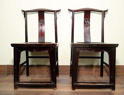 Antique Chinese High Back Chairs (Pair) (5427), Circa 1800-1849 2