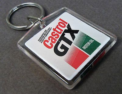 CASTROL GTX MOTOR OIL Keychain Keyring Key ring