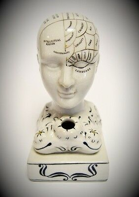 Fowlerkopf Keramik Tintenfass Porzellan Nostalg Geschenk Medizin Human Mind 15cm 2