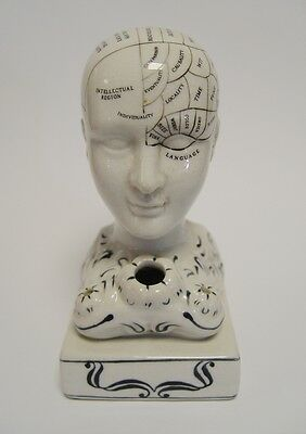 Fowlerkopf Keramik Tintenfass Porzellan Nostalg Geschenk Medizin Human Mind 15cm 3