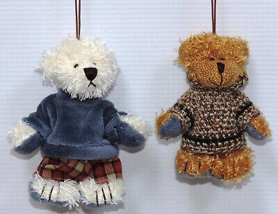 Miniature Teddy Bear Ornaments - 12 pc. Assorted Set 2