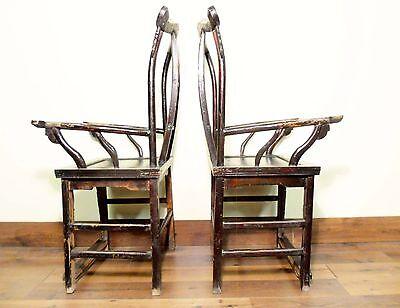 Antique Chinese High Back Arm Chairs (5569) (pair), Circa 1800-1849 11