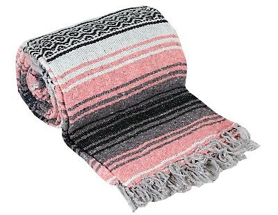 """Two (2) Falsa Blankets - Authentic Mexican 74"""" x 50"""" Random colors 2"""