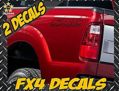 Fx4 OFF ROAD MATTE BLACK Truck Bed Decal Set for Ford F150 Super Duty Ranger