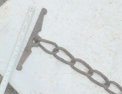 alte Eisenkette 🐱 Kette Gliederkette Bauer rostig 2 Enden geschwungene Glieder 5