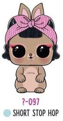 LOL Surprise PETS ShortStop Bunny Confetti Pop Dolls Pet Short Stop Hop Rabbit 9