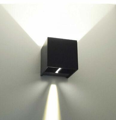 Applique Cubo Led 6W Faro Faretto Lampada Da Parete Muro Doppia Luce Per Esterno 8