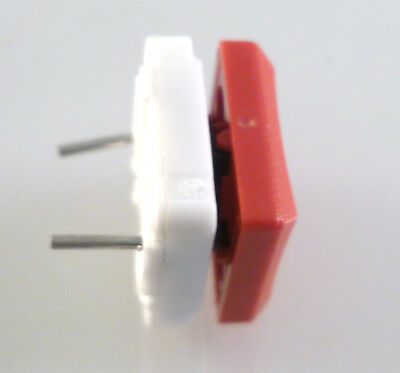 ITT Cannon MDP S NSG Push To Make Button Switch PCB Mount SPST Red Cap OM0783D 5