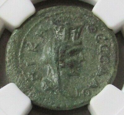 2nd -3rd CENTURY AD MACEDON, THESSALONICA AE 21 TYCHE NGC CH EXTREMELY FINE 5/3 2