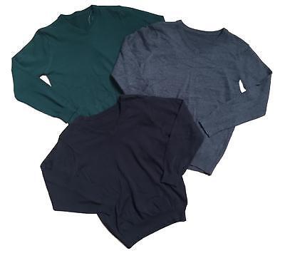 Boys School Jumpers V Neck Ex Uk Store 3-16 Years Cotton Uniform Brand New 2