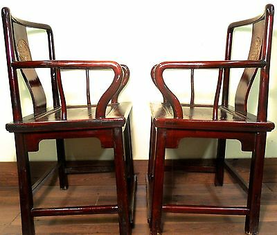 Antique Chinese Ming Arm Chairs (5879) (Pair), Circa 1800-1849 11