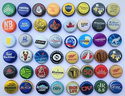 100 ((MIXED)) Beer Bottle Caps -No dents. Great mix / Assortment. Free Fast Ship 2