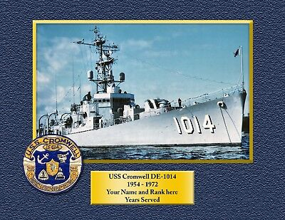 USS Dewey DDG 45 Personalized Canvas Ship Photo Print Navy Veteran Gift