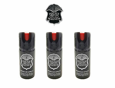 3 PACK Police Magnum Pepper Spray 2 oz ounce Safety Lock Self Defense Security 2