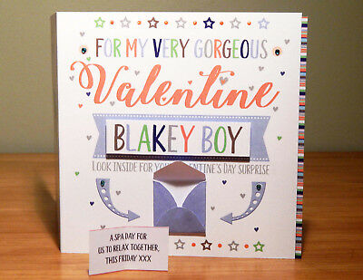 Special Valentine's Day surprise reveal card Personalised Valentine cards 2
