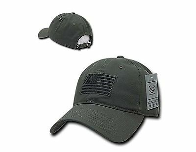 1 of 2 Olive USA US American Flag Patch Relaxed Graphic Tonal Polo Hat  Baseball Cap USA 130a85975f6