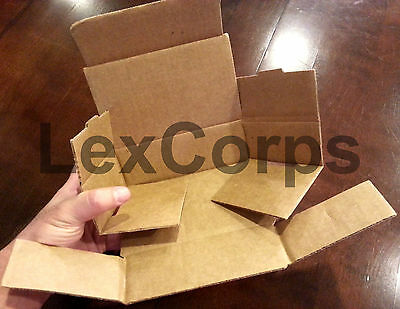 White Corrugated Mailers MANY SIZES 50 100 200 Shipping Packing Fold Box 4