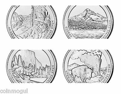 1999 - 2017 Complete Set of State Quarters, Territories, Parks P D 1999 - 2017 2