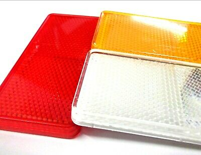Reflectors. Self adhesive. 99mm x 44mm. Red. Clear. Amber. 4 of each colour! 2