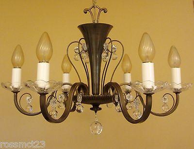 Vintage Lighting circa 1950 Mid Century quality chandelier 3