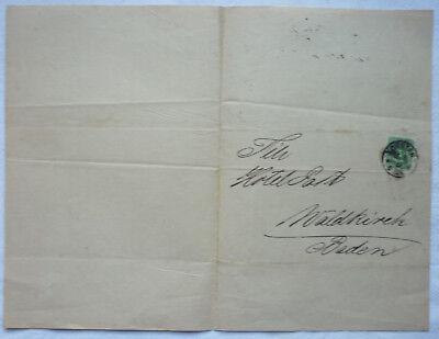 BRIEF WEINGROSSHANDLUNG 1889 ZIEGLER & GROSS KONSTANZ an HOTEL POST WALDKIRCH 4