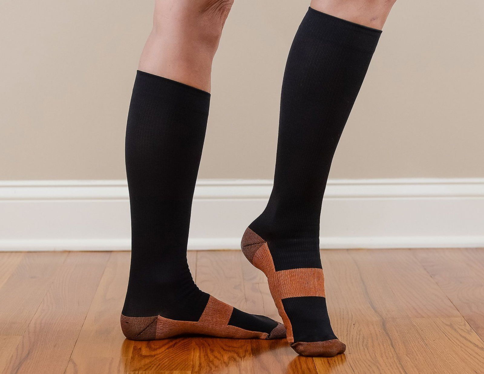 Copper Compression Stockings 20-30mmHg Support Socks Miracle Calf Men's Women's 3