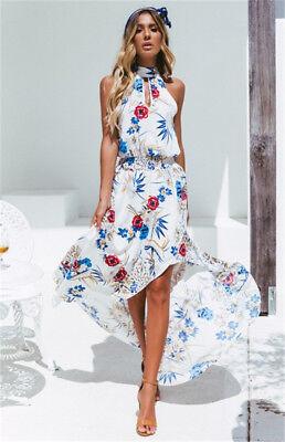 Women Boho Long Maxi Dress Summer Beach Evening Cocktail Party Floral Sundress 11