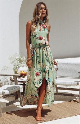 Women Boho Long Maxi Dress Summer Beach Evening Cocktail Party Floral Sundress 5