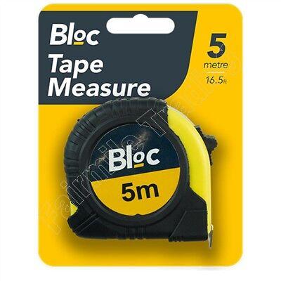 4 Pack 5m Metal Measuring Tape Rubber Grip Pocket Measure 5 Metre 16' Rule