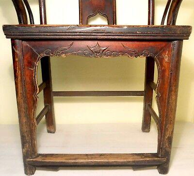 Antique Chinese High Back Arm Chair (2807), Circa 1800-1849 7