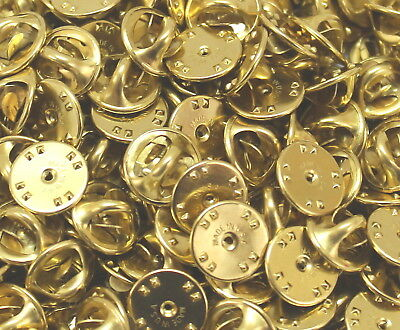 Brass clutch backs pin backs insignia badge guards lot of 4 pc to 1000 pcs 3
