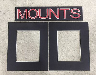 Pack of 10 Photo , Picture Mount , Frame Mounts - Various Sizes - Black 3