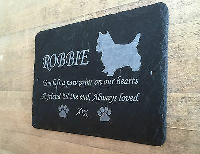 Pet Westie Memorial Slate Plaque, Personalised for you. West Highland Terrier 4
